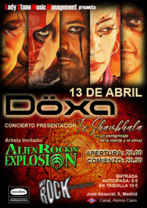 Alien Rockin' Explosion supporting Döxa in Madrid