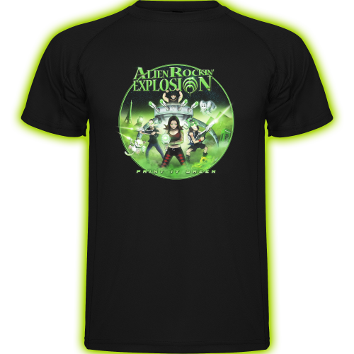 Camiseta 'Paint it Green'